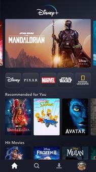 Disney+ iphone screenshot 1