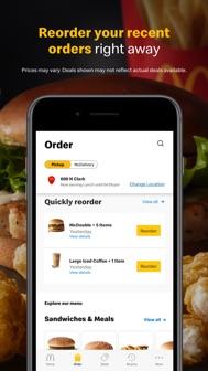 McDonald's iphone screenshot 3
