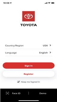 Toyota iphone screenshot 1