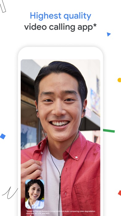 Google Duo iphone screenshot 1