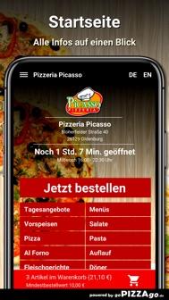 Pizzeria Picasso Oldenburg iphone screenshot 2