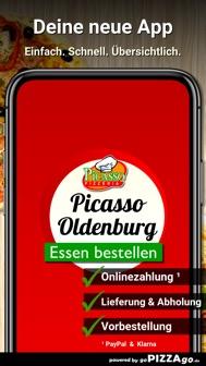 Pizzeria Picasso Oldenburg iphone screenshot 1