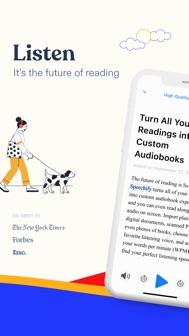 Speechify - Audio Text Reader iphone screenshot 1