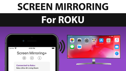 How to cancel & delete Screen Mirroring + for Roku 0