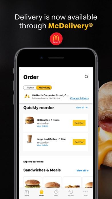 McDonald's iphone screenshot 2