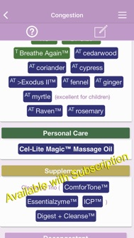 Ref Guide for Essential Oils iphone screenshot 2