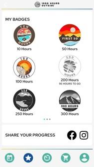 1000 Hours Outside iphone screenshot 2