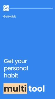 GetHabit: Motivation & Planner iphone screenshot 1